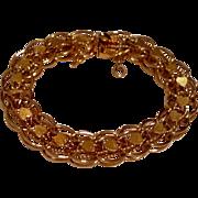 REDUCED Vintage Gold Filled Heart Motif Charm Bracelet