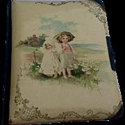 REDUCED Antique Victorian Celluloid Photo Album