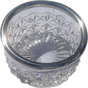 English Molded Glass Silver Plate Wine Bottle Coaster