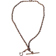 Victorian Gold Filled Pocket Watch Chain Necklace