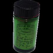 Old Green Pharmaceutical Codeine  Sulfer Bottle