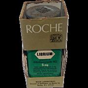 Vintage Roche Librium 1960'S Plastic Bottle In Original Box