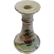 Vintage Nippon Hand Painted Candlestick Candleholder