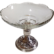 Vintage Reed & Barton Sterling Silver Floral Base Compote/Candlestick