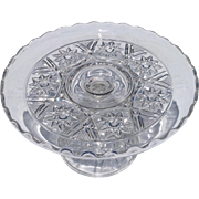 Vintage Pattern Glass Cake Stand