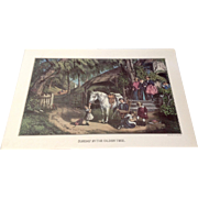 Sunday In The Olden Time Reprinted From Lith. By Currier & Ives