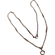 Art Deco 14 K Yellow Gold Fancy Link Chain
