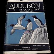 SOLD Vintage March - April 1942 Audubon Magazine