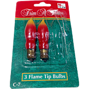 Vintage Trim A Home Christmas Flame Tip Light Bulbs