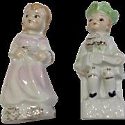 Pair Of Vintage Japan Porcelain Figurines