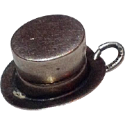 Vintage Sterling Silver Top Hat Charm