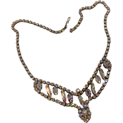 Aurora Borelias Faceted  Rhinestone Necklace