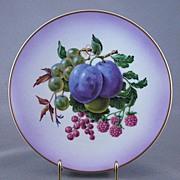 Viletta's Arts Plate, Fruit Pattern, Made In U.S.A.