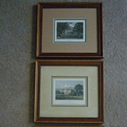 SALE Set of 3 Hand Colored English Engravings, Neale & Radclyffe