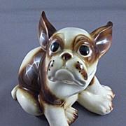 SALE Vintage Ceramic French Bull Dog Figurine, Wales Co. Japan