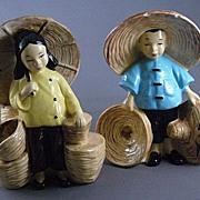 SALE Stewart of California Planters, Oriental Girl and Boy