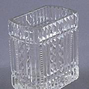 Vintage Pressed glass Celery Spooner Vase
