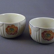 Vintage Hall China Orange Poppy Custard Cup Set