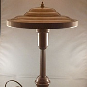 Vintage Metal Industrial Mid Century Modern 'Flying Saucer' Desk Lamp