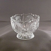 Higbee Paneled Thistle Pattern Glass Dish