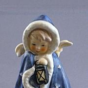 Vintage Goebel Angel In Blue Cape Figurine