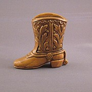 Vintage Miniature Ceramic Western Cowboy Boot