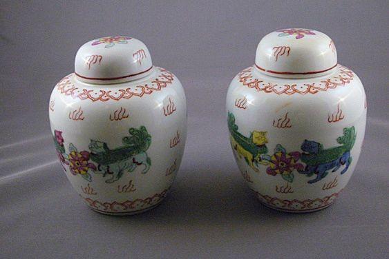 Vintage Ginger Jars Japanese Porcelainware