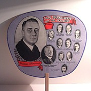 SOLD Cardboard Fan of FDR and His First Cabinet