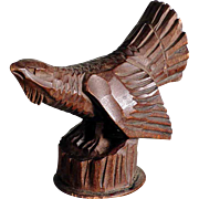 Hand Carved Bottle Stopper Mountain Cock ca. 1920