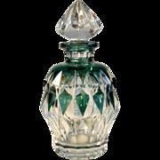 SOLD Val St Lambert Crystal Bottle Signed Art Deco Era