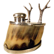 SALE PENDING Equestrian Inkwell with Pen Rest ca. 1900