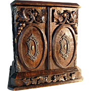 SOLD 19C French Cabinet Cave à Liquor Hand Carved
