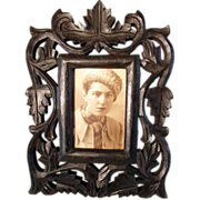 SOLD Table Top Frame Hand Carved ca. 1880