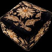 SALE Charming Box Velvet Metallic Embroidery Flowers Paste Stones