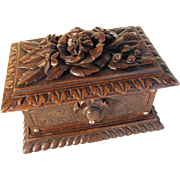 Amazing Hand Carved Jewelry Box Black Forest