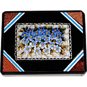SOLD 19th Century Micro Mosaic Paperweight Grand Tour Souvenir