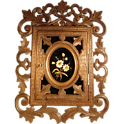 Superb Wall Cabinet Keys Hand Carved Black Forest ca. 1880