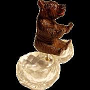 SOLD Black Forest Hand Carved Double Salt Bear  ca. 1900