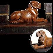 SOLD Lovely Hand Carved Desk Set Saint Bernard
