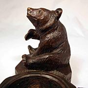 SOLD Desk or Smoker Servant Hand Carved Bear Black Forest Ca. 1900