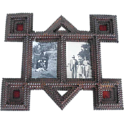 SOLD Double Picture Frame Tramp Art ca. 1900 Particularly Shape