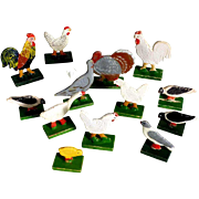 Poultry Farm German Wooden Birds for Doll House
