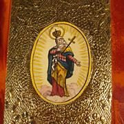 Fine Miniature Matter Dolorosa Monastery Work ca. 1850