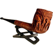 Hand Carved Wooden Pipe Dears St. Claude Pipe