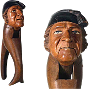 Hand Carved Nutcracker Man with Cape ca. 1900