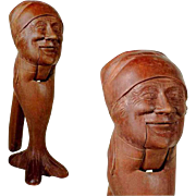 Hand Carved Nutcracker Old Woman Head ca. 1900