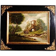 SALE Italian Romantic Oil Painting Landscape Early 19th Century