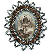 SOLD Monastery Work Woven Glass Beads Frame