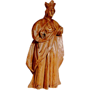 Hand Carved Virgin Statue Early 19th Century