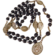 SALE Beautiful French Rosary Seven Sorrows of Mary ca. 1850